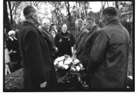 Bauer serving a funeral in 1958