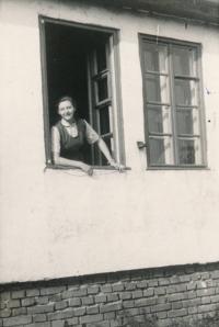 Ingeborg Cäsarová in Mohelnice, 1949