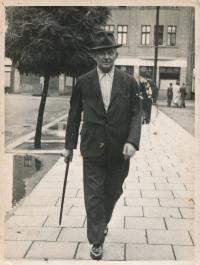 Ingeborg's father, František Przybyla, 40. léta v Bohumíně