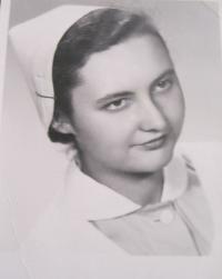 Ingeborg Cäsarová - in her nurse outfit, 1954