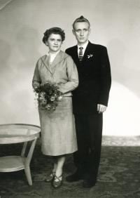 Erika's brother Erich with his wife Terezie, ca 1952