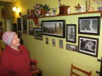 Erika Bednářová in her house in Rejhotice in December 2010