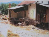 Erika Bednářová's house during the floods in 1997