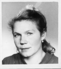Erika Bednářová (Rotterová) in 1965