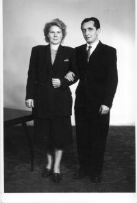 Erika Bednážová and her husband Oldřich in 1952