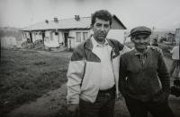 Ladislav Goral Visitating a Gypsy Village in Levoča Region