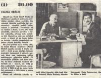 In the film Causa Králík alongsideMiloš Kopecký, 1979 (L. Goral to the right)