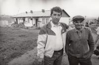 In a Roma settlement in Levoča, 1978 (L. Goral to the left)