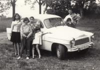At a family trip, 1965 (L. Goral to the right)