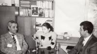 In the Government building, 1992 (L. Goral to the right)