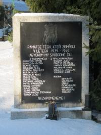 A commemorative plaque in Rychvald for those who lost their lives in WWII