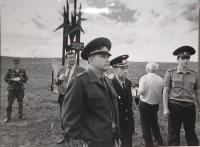 Tocký range, the site of nuclear-weapon testing