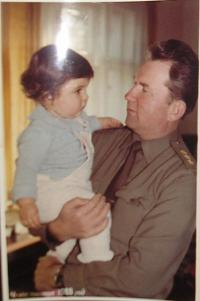 With his daughter