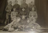 Chemical platoon, Václav Hajny is in the third line, first from the right side