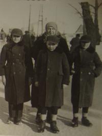 Václav Hajný in the middle