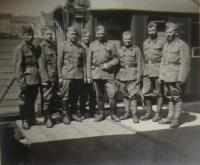 Father of Václav Hajny is the second from right side