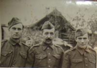 Father of Václav Hajný is in the middle