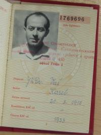 Karel Vaš, his warrant of comunistic party