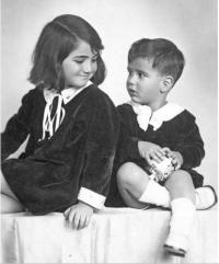 Hana with her brother Michael about the middle of the 1930s