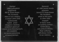 Memorial plate in Bukolowo - it was revealed in 2010