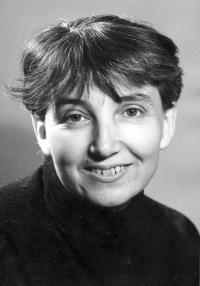 Hana Bořkovcová in 1969 - at that time she was preparing the publication of her first book  - Světýlka (Little Lights)