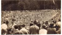 Bystrice, public Sokol exercise, 1924
