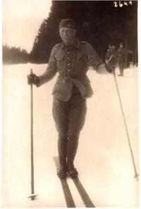 Skiing course in Špindlerův mlýn, 1931