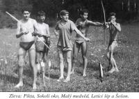 Camp of the Test, 1960, from left to right: Pikta, Falcon Eye, Small Bear, Flying Arrow and Šošoň