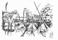 Drawing of the camp by Zdeněk Ruffer