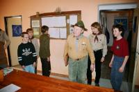 Grizzly in the club room of the Scouts of Police in 2008 while shooting the DVD about the Police Scouts