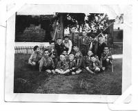 Grizzly with his Cub Scouts in 1945