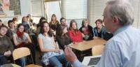 Bohuslav Strauch - session at the B. Bolzano grammar school