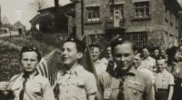 The Scouts from Police celebrating the end of the war