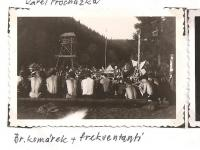 The district forest school of the Jiráskova region - August 1946 - br. Komárek and attenders