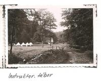 The district forest school of the Jiráskova region - August 1946 - camp of instructors