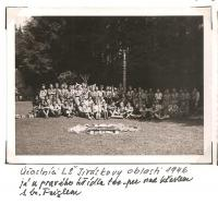 The district forest school of the Jiráskova region - August 1946 - Lunch time
