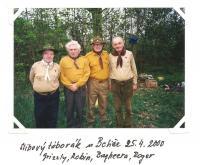 camp in Botiče, 25. 4. 2000 (Grizzly, Robin, Bagheera, Roger)