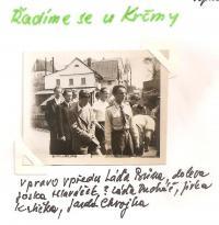 May 1945 - lining up at the pub