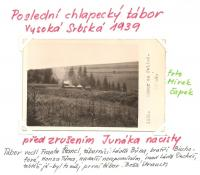 The last boy scout camp in Vysoká Srbská before the prohibition of the Junák by the Nazis in 1939.