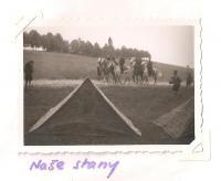 A rally of the Jiráskova east-Bohemian region - Josefov 1946 - our tents