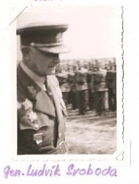 A rally of the Jiráskova east-Bohemian region - Josefov 1946 - general Ludvík Svoboda