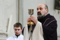 Tomáš Halík during a mass at the Saint Salvador church