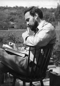 Tomáš Halík reading in 1975
