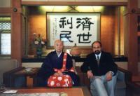 Tomáš Halík with buddhist monastary patriarch in Japan in 1998