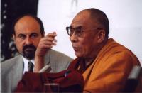 Tomáš Halík with Dalailama in Prague in 2002