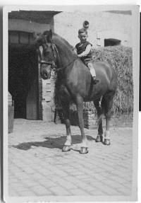Pavel Horešovský jako chlapec na koni 1