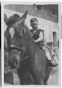 Pavel Horešovský jako chlapec na koni 2