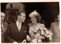 Eva and Luděk Eliáš in 1947
