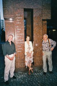 Hajný Vladimír, his niece Vladimíra Trojanová and Čestmír Vaško
