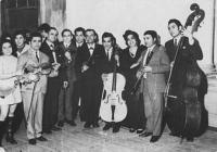 Emilie Machálková - with her music group in 1971